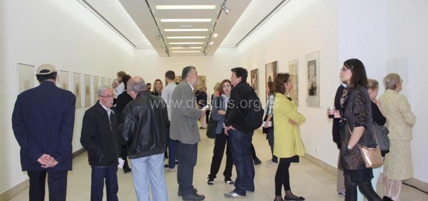Otvorena je izložba crteža i slika Miloša Bajića u galeriji Doma omladine Beograda